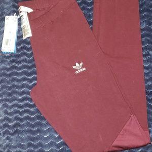 NWT Adidas Burgundy Two-Toned CLRDO Legging Pants